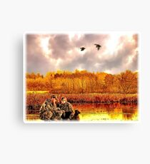 """Lessons of the First Hunt"" Canvas Print"