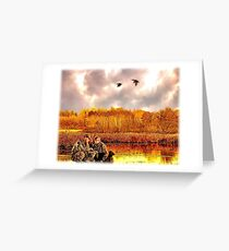 """""""Lessons of the First Hunt"""" Greeting Card"""
