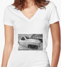 chevy silverado bagged Women's Fitted V-Neck T-Shirt
