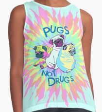 pugs not drugs Contrast Tank
