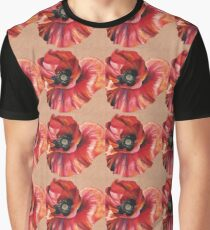 Oil Pastel Red Poppy Graphic T-Shirt