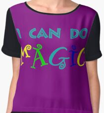 I can do magic, retro, playful, colourful Women's Chiffon Top