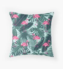 tropic abstract flamingo Throw Pillow
