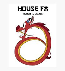 House Fa Photographic Print