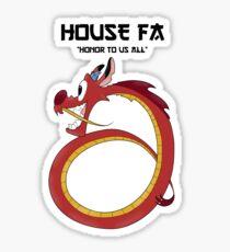 House Fa Sticker