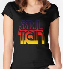 SOUL TRAIN (SUNSET) Women's Fitted Scoop T-Shirt
