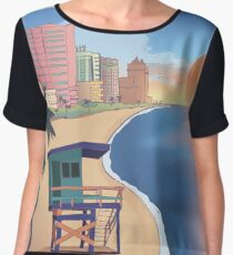 Miami Postcard Chiffon Top