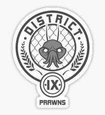 Prawn District (HG Parody) Sticker