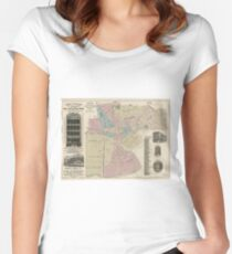 Vintage Map of Newark NJ (1879) Women's Fitted Scoop T-Shirt