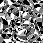 Electric Guitar Optical Illusion in Black and White by ArtformDesigns