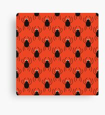 Halloween spiders simple pattern. Cute seamless background.  Canvas Print
