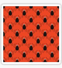 Halloween spiders simple pattern. Cute seamless background.  Sticker