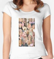Kate McKinnon collage Women's Fitted Scoop T-Shirt