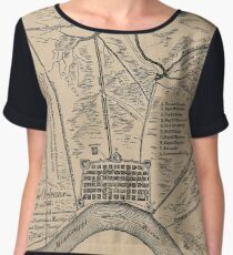 Vintage Map of New Orleans Louisiana (1798) Chiffon Top