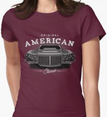 CLASSIC CHEVROLET CAMARO MUSCLE CAR | GREY Womens Fitted T-Shirt