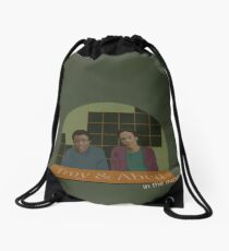 Troy and Abed in the morning! Drawstring Bag