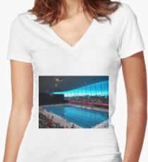 London Olympic Pool 2012 Women's Fitted V-Neck T-Shirt