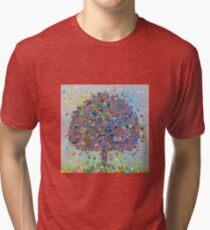 Blur of Color Tree Tri-blend T-Shirt