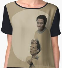 Troy and Abed being sad Chiffon Top