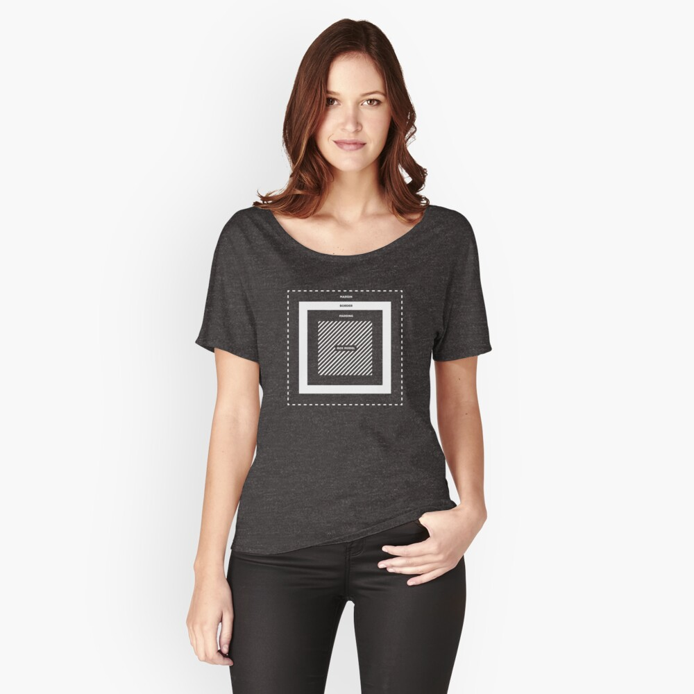 CSS Box Model Women's Relaxed Fit T-Shirt Front