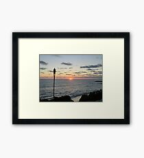 Mid -Summer Tiki Set Framed Print
