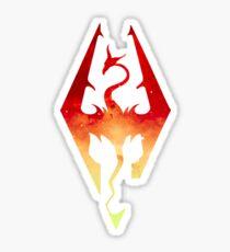 Skyrim Logo - Red Gradient Sticker