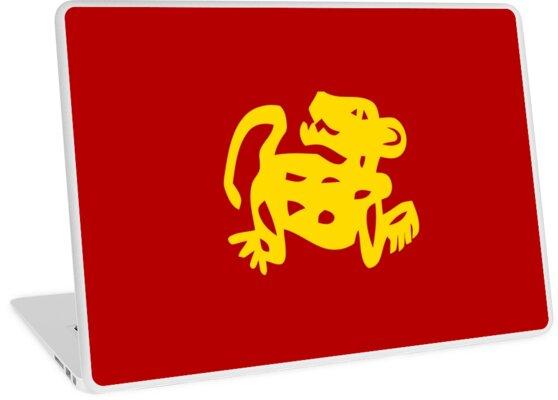 red jaguars legends of the hidden temple shirt laptop skins by