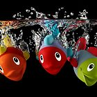 Three Toy Fish With Splash by Patricia Jacobs DPAGB BPE4