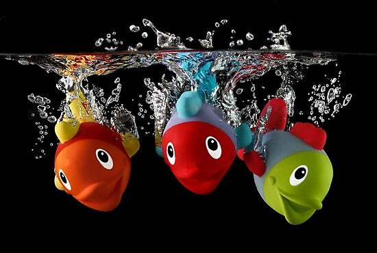 Three Toy Fish With Splash by Patricia Jacobs DPAGB LRPS BPE4