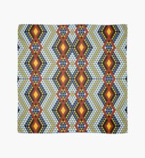 Ethnic African style diamonds, mosaic triangles pattern, multi-color Scarf