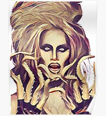 Sharon Needles with tentacles Poster