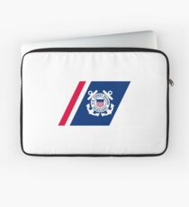 Racing Stripe of the United States Coast Coast Guard Auxilary Laptop Sleeve