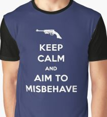 Keep Calm and Aim to Misbehave Graphic T-Shirt