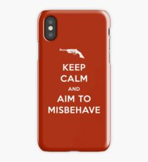 Keep Calm and Aim to Misbehave iPhone Case