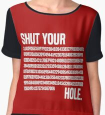 Shut your Pi hole (3.14) Chiffon Top