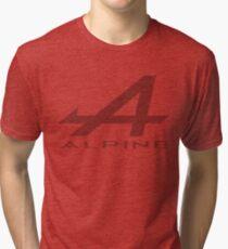 Alpine Alphabet Logo DRK Distressed Tri-blend T-Shirt