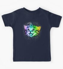Tiefe Galaxie Space Kitty Kinder T-Shirt