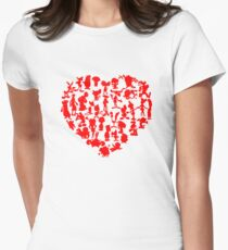 I Love Cartoons Women's Fitted T-Shirt