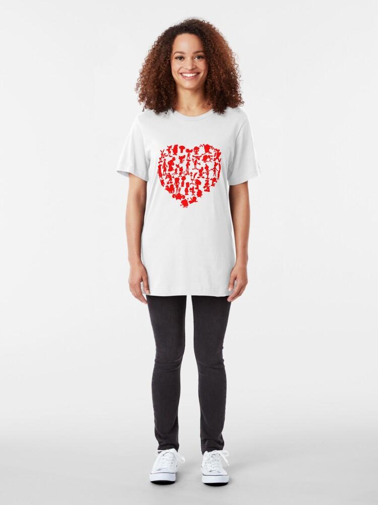 Alternate view of I Love Cartoons Slim Fit T-Shirt