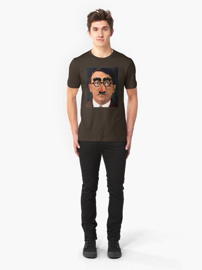 Alternate view of Fuhrer Fun - Adolf Hitler Slim Fit T-Shirt