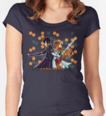 Kirito and Asuna Women's Fitted Scoop T-Shirt