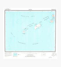 USGS TOPO Map Alaska AK Amukta 360536 1951 250000 Photographic Print