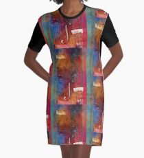 Violin Abstract One Graphic T-Shirt Dress