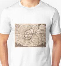 Vintage Map of Nuremberg Germany (1642) Unisex T-Shirt