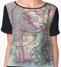 Vintage Map of The NYC Metro Area (1880) Chiffon Top