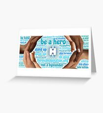 """Be a Hero"" Wordcloud Greeting Card"
