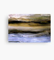 Blue Wave Rock Canvas Print