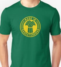 Made in Saskatchewan Logo (Green & Gold) Unisex T-Shirt