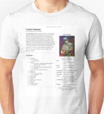 Carlos Santana Wikipedia T-Shirt