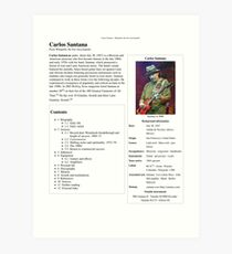 Carlos Santana Wikipedia Art Print